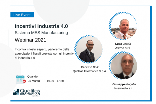 Incentivi Industria 4.0 e Sistema MES Manufacturing