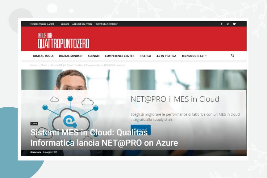 Sistemi MES in Cloud: Qualitas Informatica lancia NET@PRO on Azure